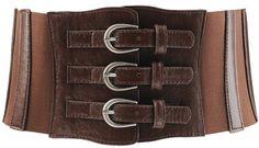 Triple Buckle Wide Belt