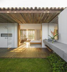 Outdoor veranda in Brazil