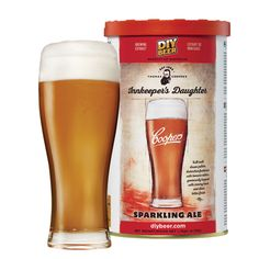 Coopers Inn Keepers Daughter Sparkling Ale has a deep golden amber colour and full malt driven palate. Available online now at Mash Paddle Brewing Supplies. Home Brew Supplies, Brewing Supplies, Home Brew Shop, Home Brewing Equipment, Homemade Beer, Amber Color, Beer Brewing, Apple Cider, Daughter