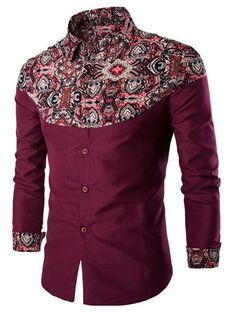 Cheap camisa masculina, Buy Quality slim camisas directly from China fashion man shirt Suppliers: Men's Shirts 2017 Hot Sale Fashion Printing Pattern Linen Casual Turn-Down Collar Slim Camisa Masculina African Shirts For Men, African Dresses Men, African Men Fashion, African Wear, Ethnic Fashion, Mens Fashion, Cheap Fashion, Fashion Sale, Style Fashion