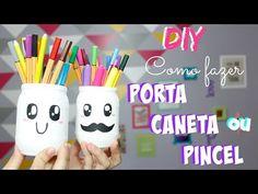 DIY - Como fazer Porta Caneta/ Pincel - por Prih Gomes - YouTube