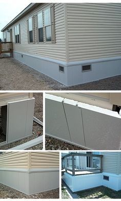 Old Metal Mobile Home Underpinning Html on