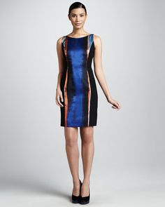 Margie Print Dress by Elie Tahari at Neiman Marcus.