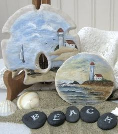 Painted sand dollars :) my mom would love these Seashell Painting, Seashell Art, Seashell Crafts, Stone Painting, Diy Painting, Rock Painting, Sea Crafts, Nature Crafts, Painted Sand Dollars