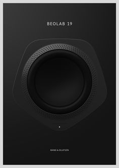 Nice minimalistic poster design by Bang Olufsen - Minimal Poster Series on Behance