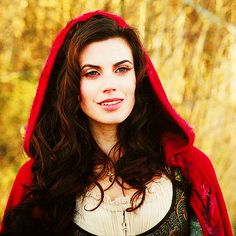 Meghan Ory as red riding hood. shes so pretty and I lover her character!