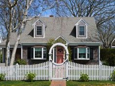 Cape Cod House Designs with Gate