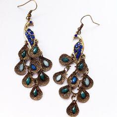 £3 Beautiful Peacock Earrings