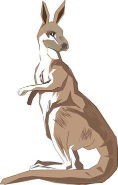 Картинки по запросу кенгуру рисунок
