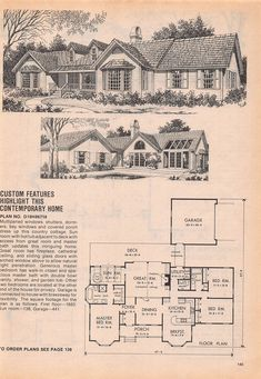 Vintage House Plans Early Colonial Part 1 Vintage House Plans, Modern House Plans, House Floor Plans, Vintage Homes, The Sims, Sims 2, Antique House, Sims House, Country Estate
