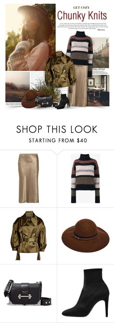 """""""Get Cozy: Chunky Knits"""" by thewondersoffashion ❤ liked on Polyvore featuring Prada, Vince, Chloé, Simone Rocha, ASOS, MANGO and Olive & Ivy"""