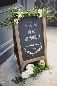 wedding welcome chalkboard, 14 & Hudson Events, Piermont NY