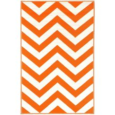 @Overstock - Indoor/outdoor rug made from 100-percent recycled materials.http://www.overstock.com/Home-Garden/Prater-Mills-Orange-and-White-Indoor-Outdoor-Rug/7685226/product.html?CID=214117 $80.09