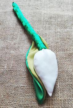 Tulipán del algodón y satén