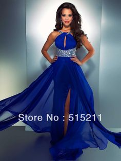 Navy blue two piece ball gown prom dresses quinceanera dresses ...