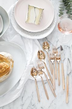 Our newly arrived Harper Rose Gold flatware is this season's #CrateWedding registry must-have!