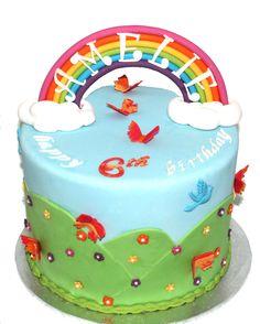 Spring Garden Rainbow Bow Cake Like us at www.facebook.com/melianndesigns