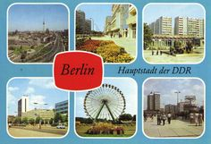 Berlin Leipziger Strasse Zentrum Greifswalder Strasse Friedrichstrasse U, 1987) Berlin Hauptstadt, Wind Turbine, Fair Grounds, Germany, Layout, Travel, Ferris Wheel, Postcards, Viajes