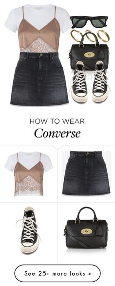 """""""#14661"""" by vany-alvarado on Polyvore featuring Made, Michelle Mason, Yves Saint Laurent, Mulberry, Converse and Ray-Ban"""