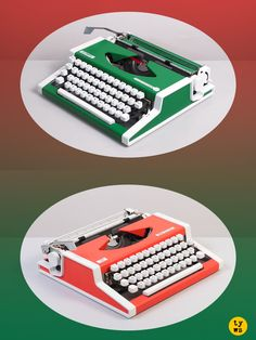 A brilliant design and an excellent performance. Now you just have to choose the flavor: mint green or grapefruit. #typewriter