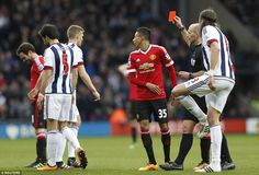 Mata was shown the second yellow card after a reckless swipe at West Brom captain Darren Fletcher