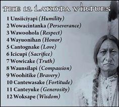 Amérindiens - valeurs Lakota