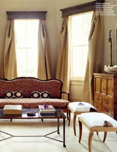 Masculine window treatments