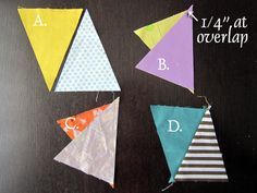 A great scrappy triangle quilt with great tips on how to accurately piece those tricky triangles! The possibilities are endless with thousands of fabrics to choose from at the Fabric Shack at http://www.fabricshack.com/cgi-bin/Store/store.cgi Repined: How to accurately piece triangles