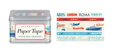 Vintage #Travel Paper Tape | by Cavallini & Co. available at Rock Paper Scissors in #AnnArbo www.rockpaperscissorsshop.com