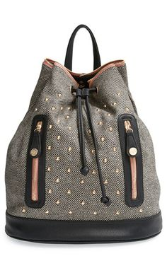Loving the colors on this cute pretty+ships+'Aberdeen'+Studded+Backpack+available+at+#Nordstrom