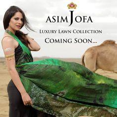 Girls Cloth, Women Fashion: Asim Jofa Summer Luxury Lawn Collection 2016 For G...