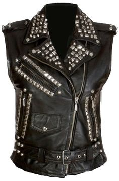 Kill Star Studded Women's Leather Vest - I think with the right floral or lace I could pull this off.