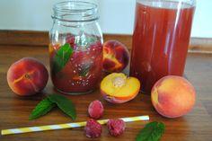 Homemade peach/raspberry ice tea - A Million Miles