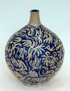 M.Wein Carved Stoneware sea land and sky