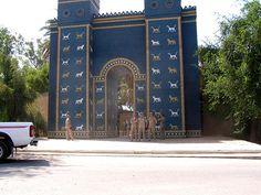 Ishtar Gate (reconstructed), Babylon, Iraq