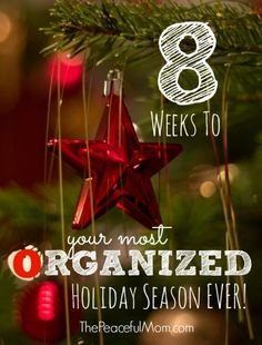 Do you often feel overwhelmed and rushed during the holidays? Use my simple step-by-step plan to have your most organized holiday season ever! -- from ThePeacefulMom.com  #Christmas