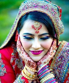It Bridal Beauty, Wedding Beauty, Moroccan Bride, Bride Indian, Makeup 2016, Indian Wedding Makeup, Beauty Around The World, Bride Portrait, Makeup Tutorials