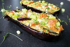 gevulde aubergine uit de airfryer
