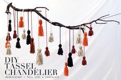 Merrick's Art // Style + Sewing for the Everyday Girl: TASSEL CHANDELIER TUTORIAL