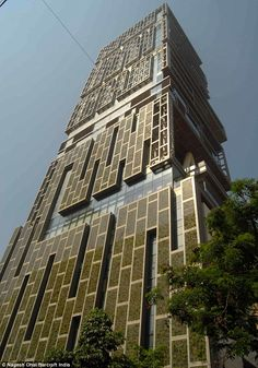 Abandoned: The 27-storey Antilla, built by Mukesh Ambani in Mumbai, India,uninhabitated reportedly because it its billionaire owner believes it would be bad luck if he moved   $27billion -