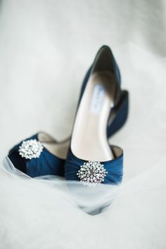 navy and blush wedding inspiration / navy wedding shoes / satin wedding shoes / wedding heels Blue Bridal Shoes, Satin Wedding Shoes, Sapphire Blue Weddings, Dusty Blue Weddings, Wedding Wedges, Wedding Heels, Rustic Wedding, Wedding Navy, Brewery Wedding