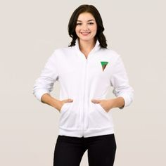 #Zambia Flag Triangle Womens Jacket - #country gifts style diy gift ideas