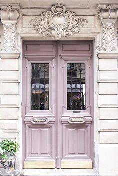 Paris Photography - Mauve Door on Rue Condorcet, Architecture Photography, Travel Fine Art Photograph, French Home Decor, Large Wall Art - Home Design Front Door Paint Colors, Painted Front Doors, Wall Paint Colors, The Doors, Windows And Doors, Wood Doors, Home Design, Interior Design, Luxury Interior