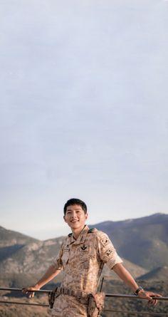 "Song Joong Ki in ""Descendants of the Sun"" wallpapers or lockscreens"