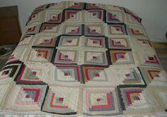 Antique quilted bedspread. Courte pointe antique.
