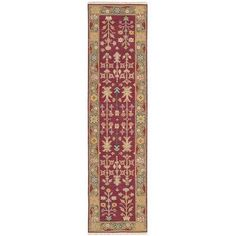 """Loon Peak Cantrell Hand-Woven Burgundy Area Rug Rug Size: Runner 2'6"""" X 10'"""