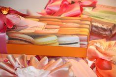 Orange and Fuschia Gift Wrap