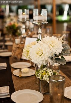 Remarkable Wedding Reception Ideas from Stoneblossom - MODwedding