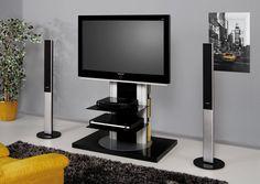 ROMA BLACK SWIVEL HIGH GLOSS Tv STAND  £379.00 inc. VAT