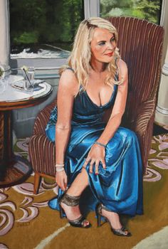"""""""Galgorm Blue"""" Soft pastel on board primed with pumice. Giclee prints from www.davidsweet.co.uk"""
